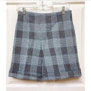 Pants - Vintage 70s High Waisted Plaid Shorts